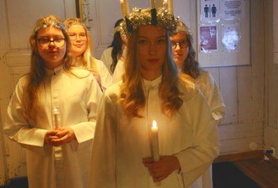 Lucia toi valon pimeyteen
